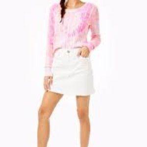 Lilly Pulitzer Skylaa Pelican Pink Tie Dye Sweater